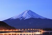 山梨県 富士山と河口湖大橋