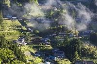 徳島県 落合集落の朝