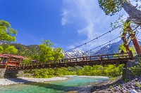 長野県 上高地 梓川と河童橋
