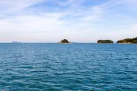 馬島海域から望む藍島方面