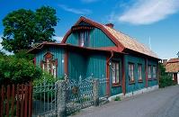 スウェーデン 緑色のサマーハウス