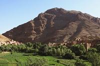 モロッコ トドラ峡谷のカスバ
