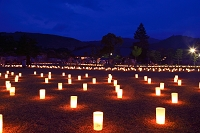 奈良県 なら燈花会 浮雲園地 若草山
