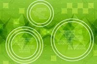 円に囲まれた二進法と四角形の模様 CG