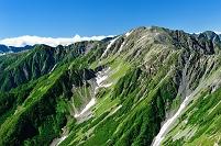 山梨県 南アルプス市 南アルプス北岳から望む間ノ岳