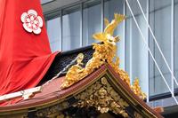 京都府 長刀鉾の金の鯱と破風
