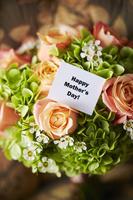 ブーケとHappy Mother's Dayの文字