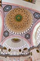 トルコ スレイマニエ・モスク(スレイマン・モスク) ドームの...