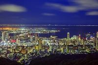 兵庫県 神戸市街と神戸港とポートアイランドの夜景