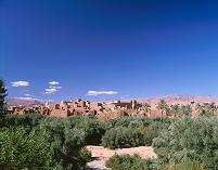 モロッコ カスバ街道 家並み