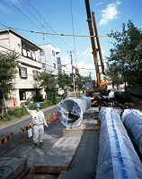 水道工事(本管の施設) 10月 東京都 江戸川区