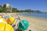 ハワイ ビーチバイクとワイキキビーチ