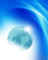 CG 輝く地球とアブストラクト
