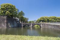 新緑の二重橋
