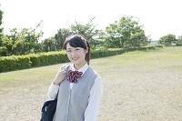 笑顔の女子高生