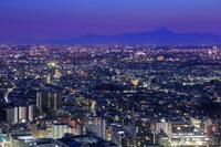 東京都 恵比寿から富士山方面の夜景