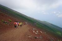 山梨県 富士登山(六合目)