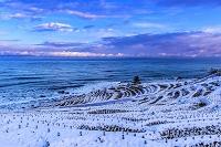 石川県 千枚田の雪景色