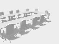 会議テーブルのモノクロ