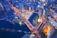 東京都 ミニチュア写真 ランドマークタワーからの夜景
