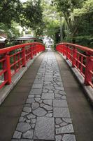 静岡県 修善寺温泉街の中心を流れる桂川にかかる桂橋