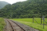 岩手県 JR岩泉線の線路