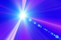 放射状の光線 CG