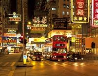 中国 ネイザンロード 夜景