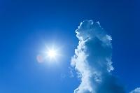 沖縄県 積乱雲と太陽