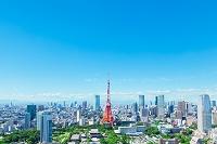 日本 東京都 東京タワーと都会の街並