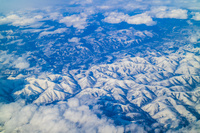 ロシア 機中より雪山