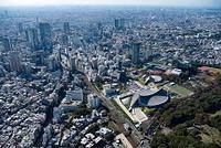 国立代々木競技場(第一、第二体育館)周辺より渋谷方面