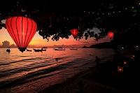 夕暮れのサイリービーチ タイ