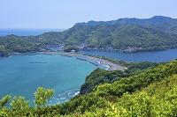 三重県 新緑の南海展望台より相賀ニワ浜