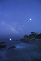 高知県 桂浜と天の川