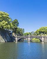 東京都 江戸城 皇居正門石橋と伏見櫓