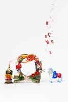 小幡土人形腹帯馬と正月飾り