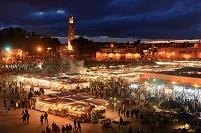 モロッコ マラケシュ 夜の市場