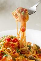 ナスとトマトソースのスパゲティー
