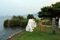 滋賀県 唐崎神社 みたらし祭 葦の流棄(りゅうき)