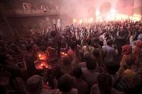 インド ヴリンダーヴァン(ヒンドゥー教の聖地) ホーリー祭