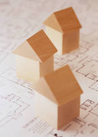 間取り図と積み木の家