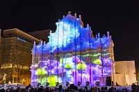 北海道 さっぽろ雪まつり HBCマカオ広場のプロジェクションマ...