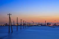 千葉県 江川海岸の夕景