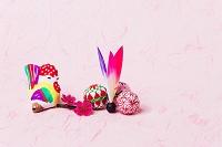 下河原土人形酉笛と正月飾り