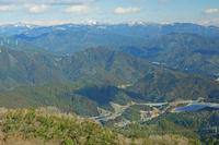 三重県 錫丈岳から鈴鹿山脈遠望