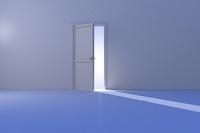 光が差し込むドア CG