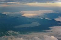 山梨県 富士山八合目から見た山中湖