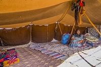 モロッコ サハラ砂漠とベルベル人のテント