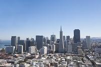 アメリカ合衆国 サンフランシスコ コイトタワーよりファイナン...